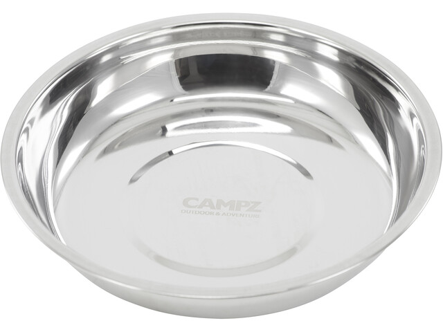 CAMPZ Stainless Steel Deep Plate 22cm silber